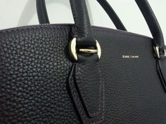 """Introducing """"Miss Jeane"""" #handbag detail Taurillon Matte Raisin, Discretly branded With Gold hardware, Made in France"""