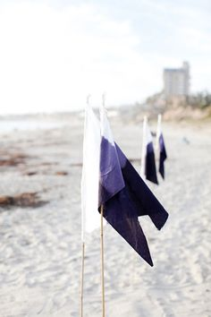 Line your aisle with ombré flags