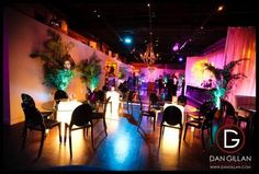 L'Andana's main dining room transformed for a large scale event.