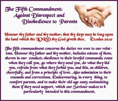 What does the bible say about disrespectful parents