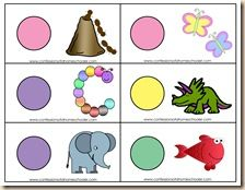 Beginning sound letter match - plus this page has bunches of good ABC games and printables
