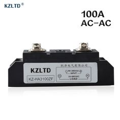 KZLTD SSR-100A AC-AC Solid State Relay 100A 80-280V AC to 24-680V AC Relay 100A SSR Solid State Relays Rele High Quality Relais
