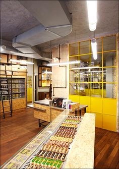 Must see: La Fabrique - Crossmarks Choux Cream, Christophe Adam, Cafe Concept, Choux Pastry, Studio Kitchen, Bakery Design, Pop Up Shops, Cafe Interior, Retail Design