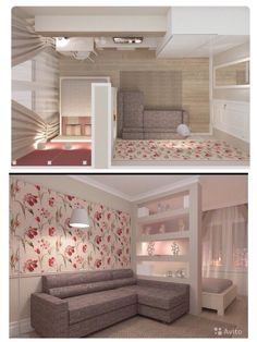 Living room idea but with out that ugly wall paper Apartment Living Room Idea living paper room ugly wall Tiny Studio Apartments, Studio Apartment Layout, Small Apartment Design, Studio Apartment Decorating, Small Living Rooms, Home Deco, Small Spaces, Bedroom Decor, House Design