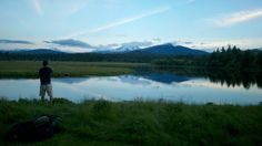 Enjoying the evening flyfishing expedition at Black Butte Ranch with the boys