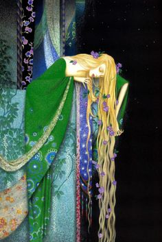 Rapunzel grew into the most beautiful child under the sun. When she was twelve years old, the enchantress shut her into a tower, which lay in a forest, and had neither stairs nor door, but quite at the top was a little window.