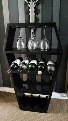 Black Coffin Bespoke Wine Rack Custom Made Gothic Wine Rack - Click to enlarge
