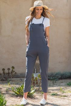 2600e97da65 Solid overalls. Adjustable front tie strap closure. 4 pant pockets. This  style was