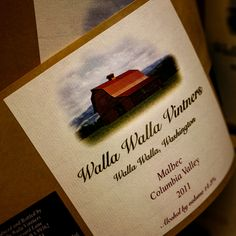 Walla Wala Vintners Malbec label ready for the bottling.
