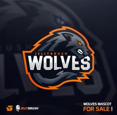 Wolves Mascot for Sale! - Gabe on Behance Mascot Design, Badge Design, Typography Logo, Logo Branding, Logo Minimalista, Logo Background, Logo Samples, Esports Logo, Sports Team Logos