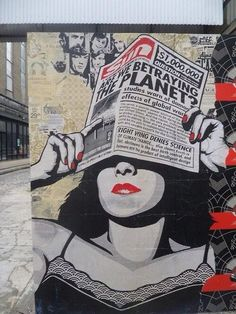 Street Art by Obey Giant (Shepard Fairey) - Are we betraying the planet?   #art #streetart