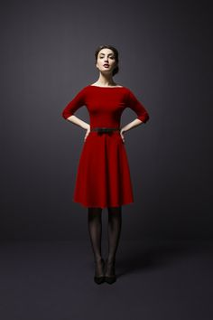 So beautiful, so classy, so modest, and so exquisitely red! I LOVE IT!