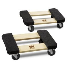 WEN 1000 lbs. Capacity 12 in. x 18 in. Hardwood Furniture Dolly (2-Pack)