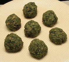 "Lentil Spinach ""Meatballs"""