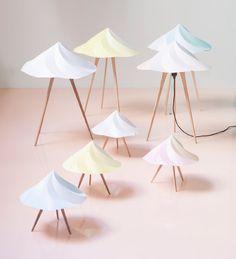 chantilly lamps by constance guisset - moustache collection at maison et objet 2013 - designboom | architecture & design magazine