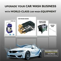 Car Wash Equipment – Manmachine works provides car washer equipment from the India's leading car wash manufacturers. Our car wash systems include self service various high quality car wash equipment. Wax Machine, Washer Machine, Portable Car Washer, Car Wash Systems, Car Wash Equipment, Automatic Car Wash, Car Wash Business, Washer Pump, Car Vacuum