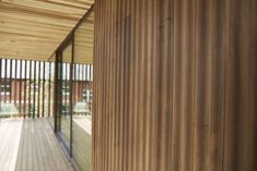 Close up detail of American tulipwood that has been thermally modified and used for exterior cladding. Exterior Cladding, White Oak, Pavilion, Creative Inspiration, Hardwood, Timber Screens, Building, Interior, Detail