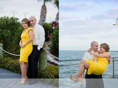 Boardwalk engagement photos by Motley Mélange