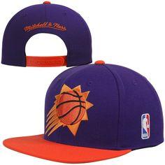 the latest be507 9add8 Mitchell   Ness Phoenix Suns XL Logo 2-Tone Snapback Adjustable Hat -  Purple Orange, Your Price   25.99
