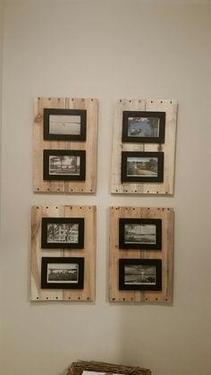 Pallet frames & vintage postcards