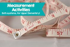 We have two new products for you today – full of measurement activities to help solidify your students' understanding of both measurement systems. Keeping both systems straight can be a problem, but with practice mastering measurements is possible!