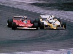 Rene Arnoux vs Gilles Villeneuve - (SILODROME)