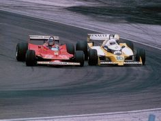 Gilles Villeneuve and Rene Arnoux