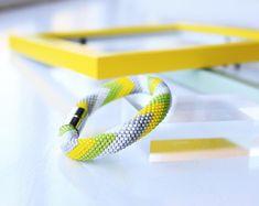 Summer bracelet-Bead crochet jewellery -Seed beads bracelet -Bead crochet bracelet - Spring bracelet - Gift for her - Statement bracelet