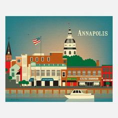 Annapolis Print, $20, now featured on Fab. [Maryland, Karen Young, Loose Petals]