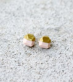 pale pink / gold earrings | AMM Jewelry