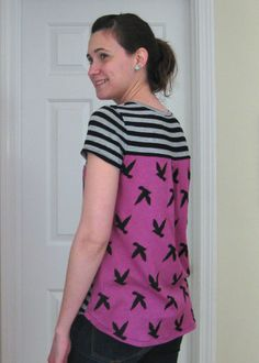 pieced back scoop top // notes from a mad housewife