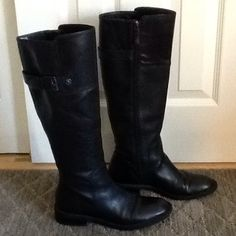 Enzo Angiolini black riding boots Enzo Angiolini black riding boots. So stylish and comfortable with full zipper closure and buckle detail on top. In very good condition, from a. Clean, smoke-free, pet-free home. Enzo Angiolini Shoes