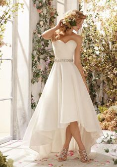 Online Shop Affordable Simple High Low Wedding Dresses 2014 A Line Sweetheart Western Country Beach Style Wedding Dresses, Wedding Dresses 2014, Cheap Wedding Dress, Bridal Dresses, Reception Dresses, Cheap Dress, Beach Weddings, Wedding Outfits, Wedding Attire
