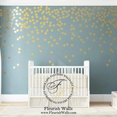 Gold Wall Dots Decal Gold Polka Dot Wall Decals Girls Room