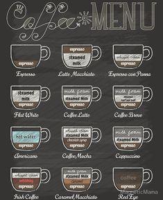 Creative And Inexpensive Tricks: Coffee Corner Scandinavian coffee menu dairy free. Coffee Shop Menu, Coffee Shop Business, Coffee Bar Home, Coffee Shop Design, Coffee Corner, Coffee House Decor, Cafeteria Menu, Menu Café, Vintage Style