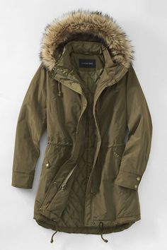Women's City Anorak Coat from Lands' End