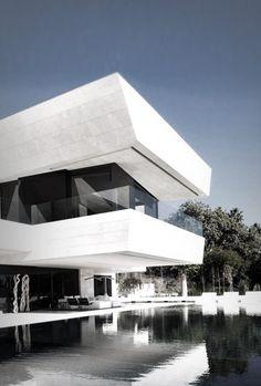 amazing, Bauhaus styled, white home