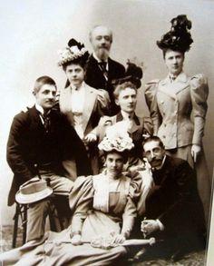 Grand Duke Konstantin Konstantinovich with his wife Grand Duchess Elizaveta Mavrikievna and her relatives