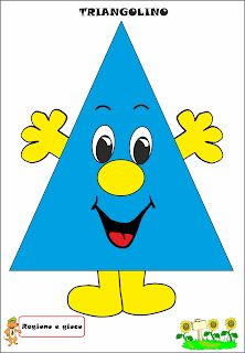 A Scuola con Poldo: Triangolino Preschool Learning, Math Activities, Preschool Activities, Teaching Kids, Letter P Crafts, Mathematics Geometry, Shape Games, School Decorations, Kids Education