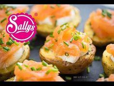Last Minute Fingerfood: Kartoffeln aus dem Ofen mit Lachs - YouTube