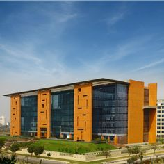 Maximising energy conservation and minimising ecological footprint are the keys to SWBI Architects's new research and development centre in Noida, India designed for American multinational Adobe Systems. #Architecture #Design PH: Kapil Kamra