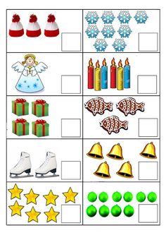 Počty - Sisa Stipa - Àlbums web de Picasa Christmas Math Worksheets, Math Addition Worksheets, Kids Math Worksheets, Christmas Activities, Numbers Kindergarten, Kindergarten Math Activities, Numbers Preschool, Preschool Activities, Farm Animals Preschool