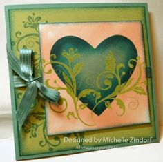 Heart and Vines card by Michelle Zindorf... for wedding or anniversary