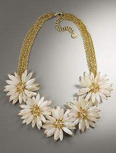 Daisy Necklace via Talbots