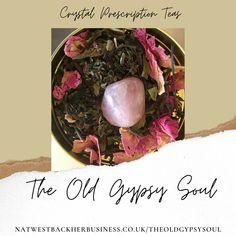 Rose Quartz Crystal Infused Tea Peony and Vanilla White Tea Blend