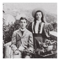 """imperial-russia: """" """"Grand Duke Mikhail and Grand Duchess Olga, youngest children of the tsar Alexander III """" """""""
