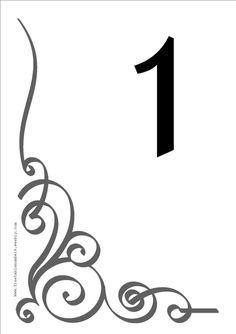Free 'Flourish' printable DIY Table Numbers for your wedding reception or restaurant