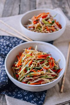 Chinese tofu salad is a light and tasty summertime dish. Five-spiced tofu noodles and summer vegetables are all you need for an authentic Chinese tofu salad Chinese Salad, Chinese Coleslaw, Chinese Cabbage, Chinese Food, Chinese Meals, Healthy Chinese Recipes, Asian Recipes, Vegetarian Recipes, Healthy Recipes