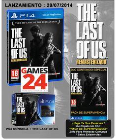 Reserva The Last of Us para tu PS4 y sino la tienes, tienes el pack PS4 y el juego.