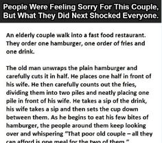 They All Thought His Wife Wasn't Eating, Until She Said This Elderly Couples, Old Couples, Couples Walking, Story Quotes, Weight Loss Secrets, Humanity Restored, First Order, Have A Laugh, Faith In Humanity
